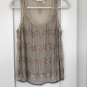 Adorable tank with sequence & beads